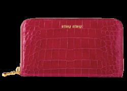 レザー型押クロコ ジッパー長財布